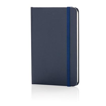 A6 Basic hardcover notitieboek, marineblauw