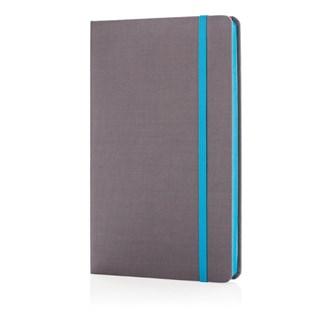A5 Deluxe stoffen notitieboek met gekleurde zijde,
