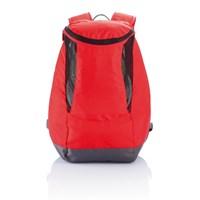 PVC vrije rugtas met schoenenvak, rood