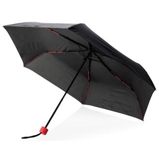 21 fiberglas gekleurde opvouwbare paraplu, rood