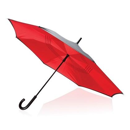 23 handmatig reversible paraplu, rood