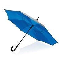 23 handmatig reversible paraplu, blauw