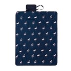 Flamingo Picknickdeken, navyroze