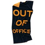 Badlaken Out Of Office, navy