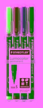 STAEDTLER doos met 4 Lumocolor permanents S