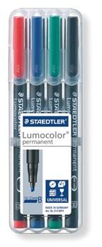 STAEDTLER doos met 4 Lumocolor permanents B
