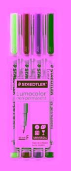 STAEDTLER doos met 4 Lumocolor non-permanent F