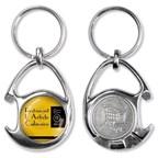 winkelwagenmunt- munt-houder sleutelhanger