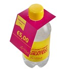 Flap over kaartje 330 ml bronwater
