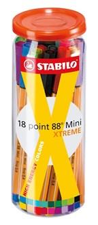 Kleurenfineliner-box STABILO point 88 Mini XTREME