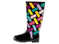 rubber boots Bunte Streifen