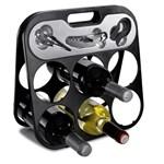 111843765459 - Set à vin avec porte-bouteille pliable
