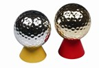 Gold and Silver Coloured Golf Ball