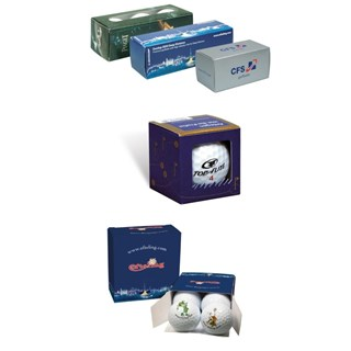 1,2,3 and 4 Ball Packs with 3 colours imprint all
