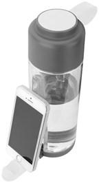 Techno fles met telefoonhouder