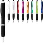 Nash stylus balpen met gekleurde houder en zwarte grip
