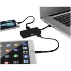 Grid USB hub met dubbele laadkabel