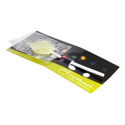 1 platte lolly op kaart