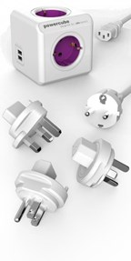 PowerCube Rewirable USB + 3 PLUGS + IEC SCHUKO CAB