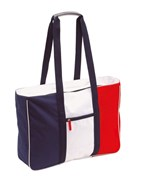 Beach bag, 600D, Marina blue whitered