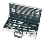 BBQ set, 18 delig in luxe aluminium koffer