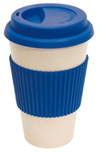 coffee mug , 400ml blue eco cup