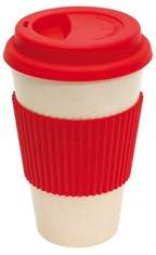 coffee mug , 400ml red eco cup