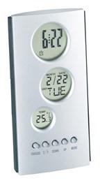 LCD alarmklokje Tower met thermometer en kalender