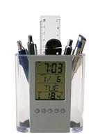 Transparante pennenhouder Butler II met LCD alarmk