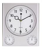 Wandklok met ingebouwde hygrometer en thermometer