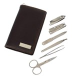 6-pc manicure set Perfect,PU , silver