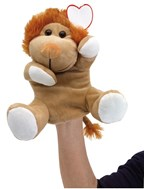 plush hand-puppet lion Knox