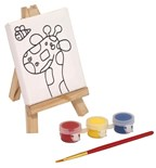 little canvas brush & easel