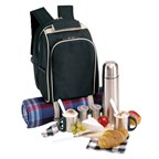 Luxe 600D polyester picknick rugzak COFFEE