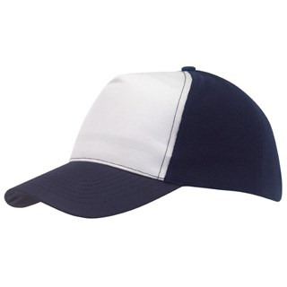 5-Panel cap with MeshBreezy,navywhit