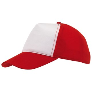 5-Panel cap with MeshBreezy,redwhi