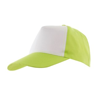 5-Panel Baseball-Cap Shinygreen/white
