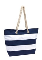 Beach bag Sylt 300D, bluewhite