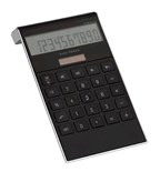 Elegant vormgegeven dual-power calculator DOTTY MATRIX