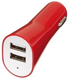 Dual USB charger for car Drive, red