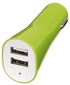 Dual USB charger for car Drive, green