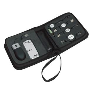 6 delig USB reisset in handig afsluitbare houder