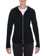 Anvil Tri-Blend Full-Zip Hooded Jacket for her