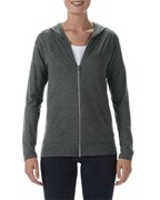 Anvil Jacket Hooded Full-Zip Tri-Blend for her