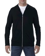 Anvil Tri-Blend Full-Zip Hooded Jacket for him