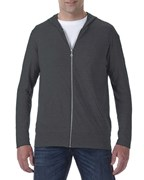 Anvil Jacket Hooded Full-Zip TriBlend for him