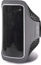 Armband voor smartphone met gaatje voor koptelefoo