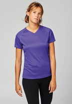 Dames Sport-t-shirt V-hals