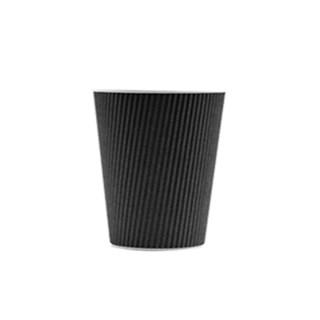 200cc Koffiebeker Ribbel karton zwart Voorbedrukte