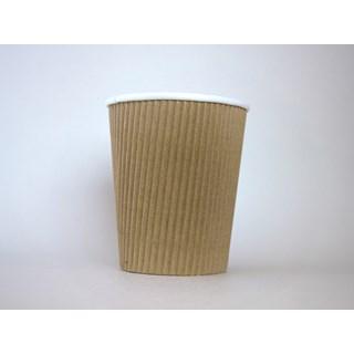 450cc Koffiebeker Ribbel karton bruin Voorbedrukte